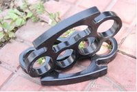 Wholesale 2015 New ARIVAL Black THICK STEEL BRASS KNUCKLES DUSTER BUCKLE Free Drop shipping