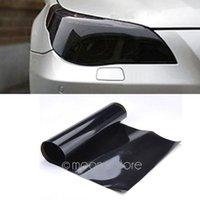 Wholesale Auto Car Smoke Fog Light Headlight Taillight Tint Vinyl Film Sheet Sticker PVC Waterproof Smooth Self adhesive MHM750