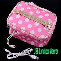 Wholesale USB Lunchbox Bento Box Warmer Heater Bag Freeshipping dropshipping