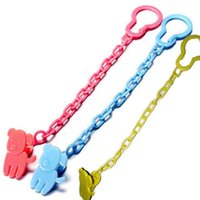 baby dummies - 1 Baby Infant Dummy Pacifier Soother Chain Clip Holder Toddler Cartoon Pattern