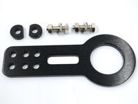 Wholesale New Black Universal Billet Aluminum Racing Front Tow Hook Kit CNC JDM order lt no track