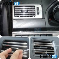 Wholesale Car Air Condition Bumper Side Vent Grille Switch Radio U Style Chrome Strip Trim sets