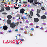 crystal craft - Bue Light DMC hotfix rhinestones Crystal AB SS6 SS50 Machine Cut Flatback strass chaton stone for clothes crafts decorations