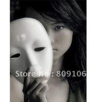 White beauty supply retail - Party supplies Halloween Mask white can paint Party Face Beauty mask and retail