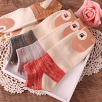 acrylic literature - hot sale Japan style combed cotton thick colorful yarn national wind Literature and art womans jacquard socks