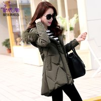 Wholesale New Winter Coats Women Jackets Real Large Raccoon Fur Collar Thick Cotton Padded Lining Ladies Down amp Parkas army green
