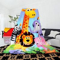 flannel sheets - Animal paradise Cartoon of throws coral fleece flannel fabric x200cm super soft cartoon blankets can be bedspread bed sheet