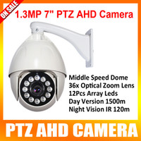 cctv ptz - CCTV PTZ AHD Camera P Middle Speed Dome PTZ Camera Outdoor Waterproof Ceilling Wall Mounted IR m