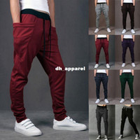 Wholesale New Mens Boys Fashion Harem Sports Dance Sweatpants Big Pockets Pants Baggy Jogging Casual Trousers Color Size M XL
