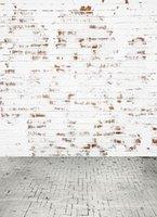 200CM * 150CM fundos фотографии Побеленные кирпичные стены и пол Компьютерные краски Детский фон фотографии