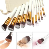 draw string bag - 10 Professional Makeup Brushes Set Makeup Brushes Kit Free Draw String Makeup Bag
