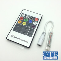 Wholesale Order to buy DC V V key mini RF wireless led RGB remote Controller with pin female DC for RGB LED Strip Light