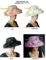 ascot - NEW DESIGN church dress Sinamay Hat for wedding kentucky derby races wedding party ascot colors black cream lilac pink