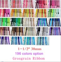 Wholesale 15 off NEW STYLE quot mm Solid Colors Polyester grosgrain Ribbon gift Packaging belt hair accessories Yards colors OEM