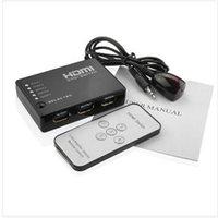 achat en gros de xbox dvd télécommande-HDMI Switch 5 Port HDMI Commutateur Switch HDMI Splitter HUB avec IR Télécommande IR Câble récepteur pour Xbox 360 PS3 DVD HD 1080P Vidéo