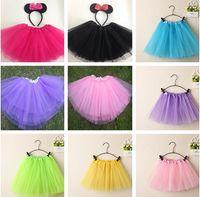 ballet dance costumes - Dancewear Girl Tutu pettiskirt dress Princess Dance Party Tulle Skirt baby Ballet dancewear Party costume skirts tutus for girls B206