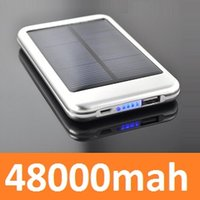 Wholesale 50pcs Portable solar Power Bank mah Mobiles Power Bank Charger for ipad iPhone Samsung mobile phone
