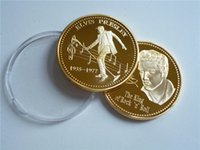 Wholesale 5pcs New crafts US The Elvis and the king of bock Singers souvenir coins metal crafts