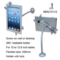 Wholesale eStand universal inch tablet wall mount with lock lockable holder stand for Apple iPad air Ace tab samsung galaxy tab e reader