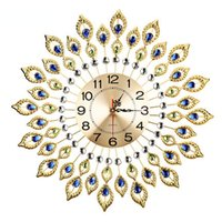 Wholesale 20 Inch Modern Creative Personality Bedroom Peacock Quartz Wall Clock European Style Fashion Horloge Murale