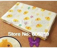 Wholesale Cotton cm Large size Yellow duckling nursing Towels pad urinal pad kids cover towel baby care pad fast shipping uc009