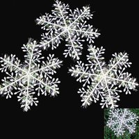 Wholesale 2015 New arrival Hot sale best quality Christmas Holiday Party White Snowflake Charms Festival Ornaments Decor ZH141