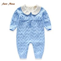 Wholesale Hot Knitting Solid Color Kids Baby Boys Girls Newborn Rompers Children Clothing Infant One piece Romper Jumpsuit Baby Onesies