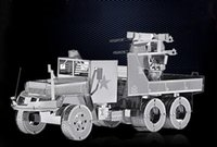 Wholesale Brinquedos Promotion Toys New Arrival High Quality Diy d Metal Military Truck Model Assemble Miniature Diorama best Gift decoration