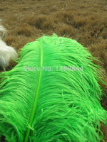 Wholesale Factory beautiful inches cm natural fluffy Green ostrich feathers the central focus of feathers