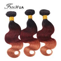Cheap 3pcs lot Hot Sale Machine Weft Ombre Hair Extension 6A Body Wave Colorful Brazilian