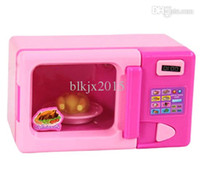 Wholesale New Simulation Pretend Play Mini Electric Appliance Microwave Oven Educational Family Household Toys for Children kids