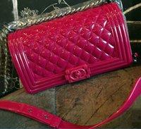 silicone handbags - Jelly silicone chain qulited women toyboy handbags