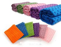 Wholesale Fedex Health Care Skidless Yoga Towel Yoga Mat Non slip Yoga Mats for Fitness Yoga Blanket