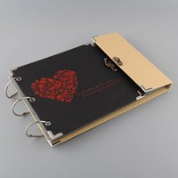 album memories - Creative Dark Red Heart Print Photo Photography Image Album Scrapbook DIY Craft Gift Memory Inner Pages