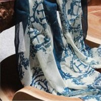 Wholesale 2016 spring and autumn vintage carriage H Scarf Printed voile Scarf