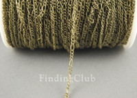 Wholesale factory M ft x2mm Antique Bronze Mother Son Figaro Chain C11 Soldered Chain