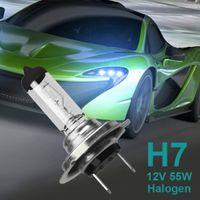 achat en gros de blanc xénon conduit h7-Ampoules de voiture H7 conduit Halogen Xenon voiture phare Ampoule Super Blanc chaud 12V 55W 2700 ~ 6000K pour l'échantillon