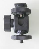 Wholesale Mini Hot Shoe Ball Head Flash Bracket Holder Mount Screw For Camera Tripod Light Adapters Slaves