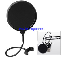 Wholesale 360 Flexible Microphone supplies Mic Pop Screen Studio Wind Windscreen Filter Mask Shield For Broadcasting Recording Singing