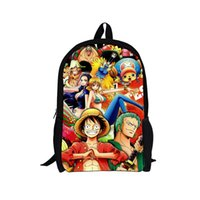 Wholesale Hot Sale Japan Anime One Piece School Bags for Teenagers Children Backpacks Kids Cartoon Bagpack Pirates Luffy Backpack Men Bag