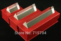 Wholesale of Optical Glass Triple Triangular Prism Physics Teaching LightSpectrum cm