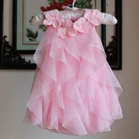 Wholesale 2015 New Arrival Baby Girls Rompers Cute Flower Collar Baby One piece Baby Tutu Rompers Girls Cake Rompers Baby Summer Romper baby clothing