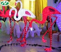 pink flamingos - sculpture flamingo D motif led light for Christmas decoration christmas lights waterproof acrylic garden decor led flamingo lamp