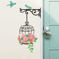 beautiful bird houses - Beautiful Design DIY Removable Wall Sticker Colourful Cage Bird Bathroom House Decor Kid Children High Quality order lt no track