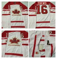 Cheap Mens #16 Toews White 2010 Canada Team Vancouver Winter Olympic Hockey Jerseys Ice International Sports Stitched Premier Authentic Sports