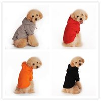 Wholesale Pet Dog Apparel Doggie Overcoat Teddy Poodie Bichons Hoodie Hooded Coat Soft Cozy Fleece Hoodie Hot Sales