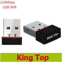 Wholesale Newest Mini USB Adapter Mbps M Wifi Wireless Adapter Network LAN Card n g b GHz for Computer Networking