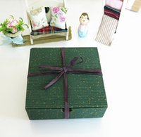 Wholesale Retail X mas Green Cake Biscuits Cookies Boxes Corrugated Paper Boxes Moon cupcake Packaging Boxes
