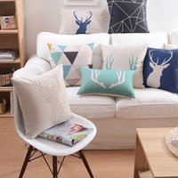 flamingo - Ikea Linen Pillow Cover Geometric Triangle Deer flamingo Cushion Cover Nordico Style Home Decorative Pillow Case x45cm x50cm