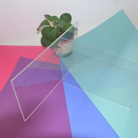 acrylic sheet supplies - Plastic Acrylic Plexiglass Clear Sheet Home Hotel Building Supplies Decor PMMA Square Plate x200x2mm Can Cut Into Any Size